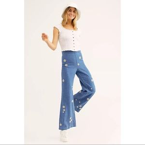 Free People Daisy Flare High Rise Jeans